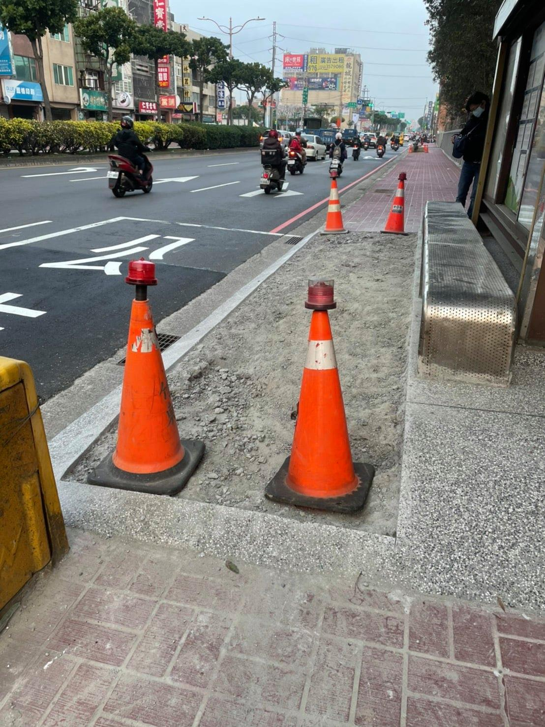 中華路二段侯車亭路面高低差